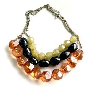 Jewelry - 💥2/$20💥 Chunky Beaded 3 Strand Necklace